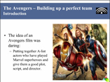 The Avengers  Building up a perfect team