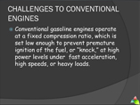 variable compression ratio engines