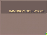 immunomodulators
