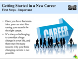 Getting Started in a New Career powerpoint presentation