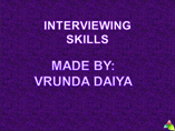 ppt interview skills