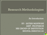 research methodology powerpoint presentation