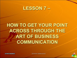 Leadership Management lesson 7