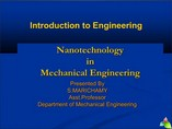 NANO IN MECHANICAL ENGINEERING