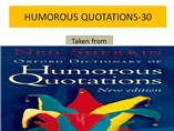 HUMOROUS QUOTATIONS