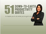 51 Down to Earth Productivity Quotes