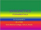 Fundamentals of isokinetics