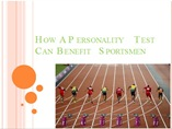 How A Personality Test Can Benefit Sportsmen