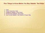 Five Things to Know Before You Buy Diabetic Test Strips