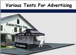 The Tents Used in Advertising