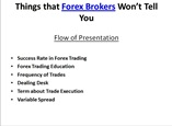 Things that Forex Brokers Won't Tell You