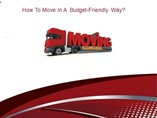 How To Move In  A  Budget-Friendly Way?