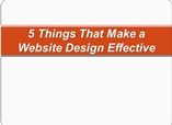 5 Things That Make a Website Design Effective