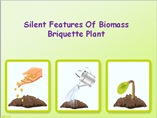 Silent Features Of Biomass Briquette Plant