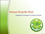 Biomass Briquette Plant Tapping Bio Fuel Briquettes For Energy Production