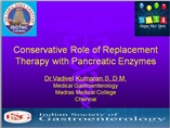 Pancreatic enzyme replacement therapy powerpoint presentation