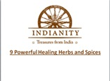 9 Powerful Healing Herbs and Spices powerpoint presentation