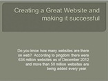 Creating a Great Website and making it successful