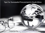 Tips For Successful Procurement In South Africa powerpoint presentation