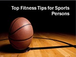 Top Fitness Tips for Sports Person powerpoint presentation