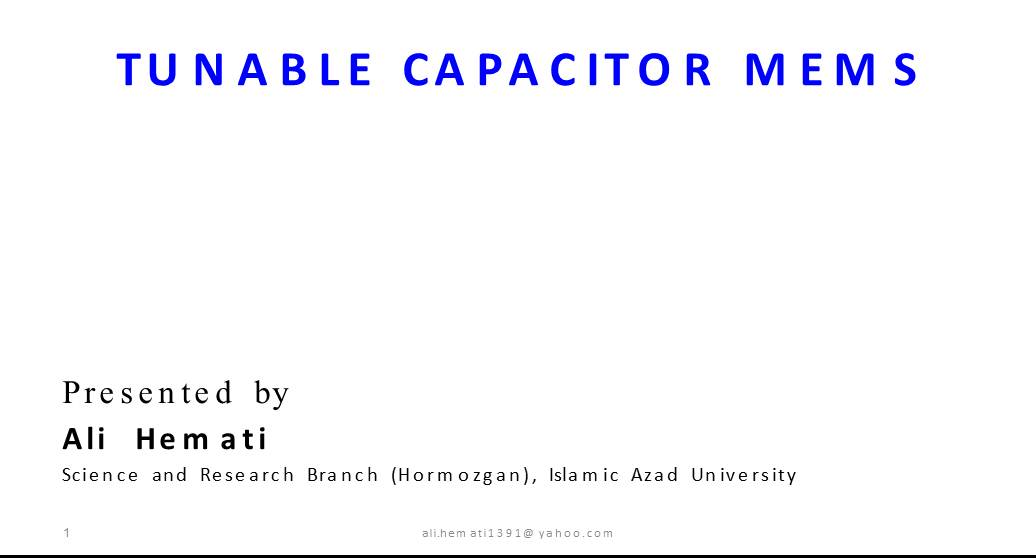 TUNABLE CAPACITOR MEMS