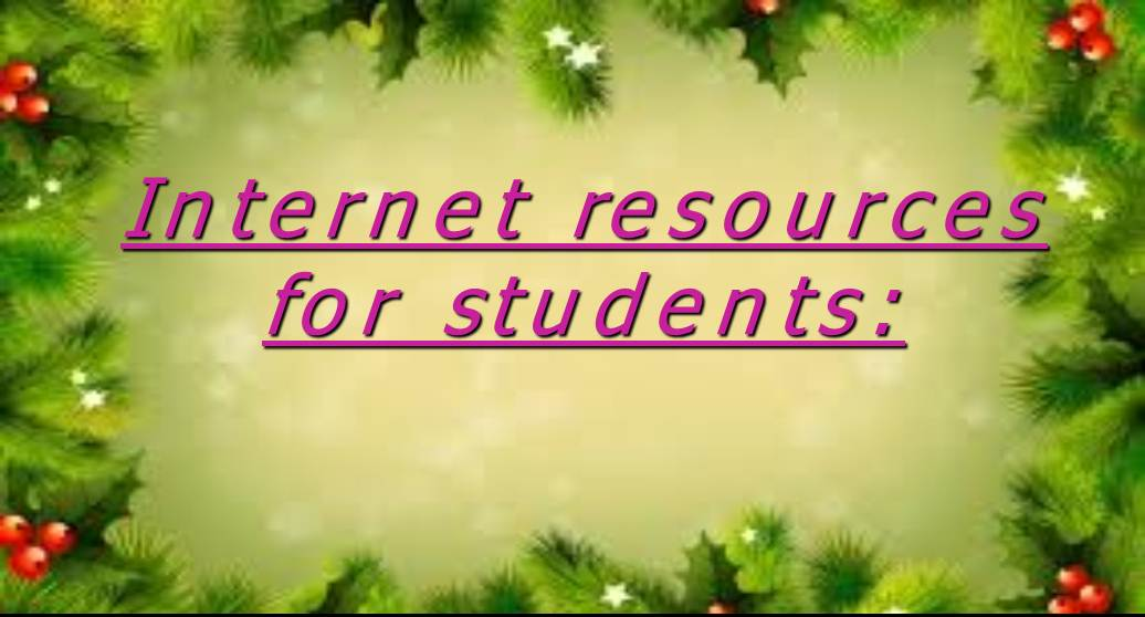 internet resources for students