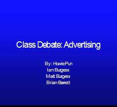 Class Debate: Advertising