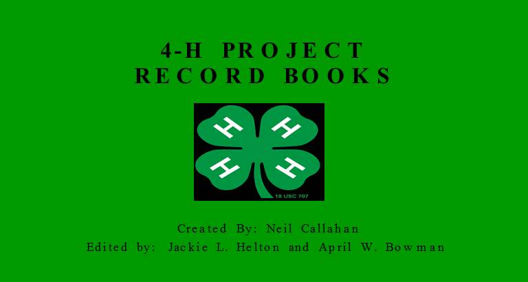 4-H PROJECT RECORD BOOKS