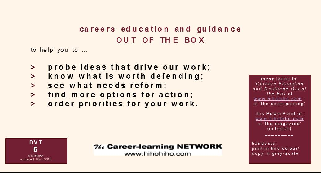 careers education and guidance OUT OF THE BOX