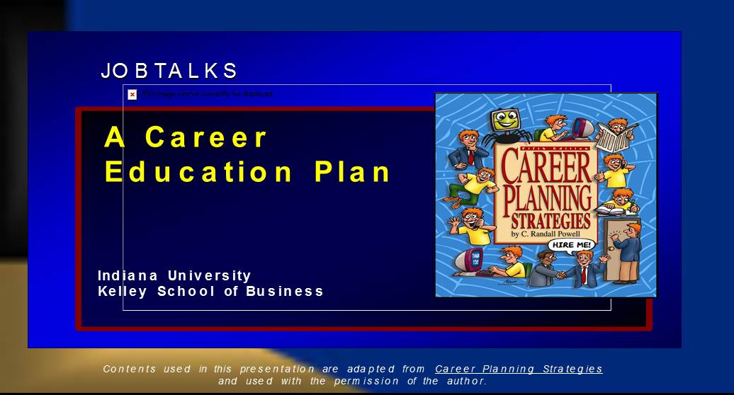 A Career -Education Plan