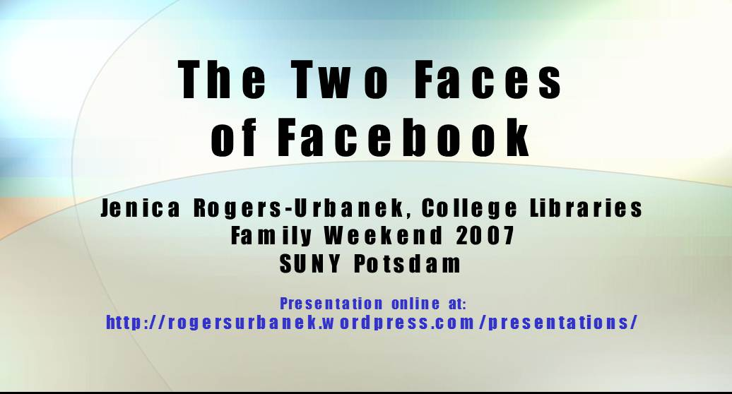The Two Faces of Facebook