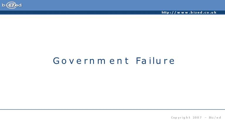 Government Failure