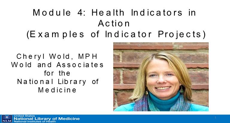 Module 4: Health Indicators in Action