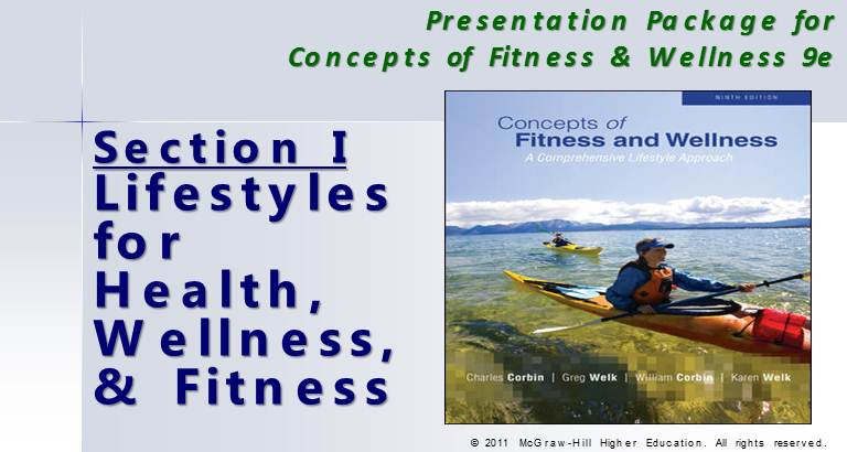 Section 1 :  Lifestyles for Health, Wellness, &  Fitness