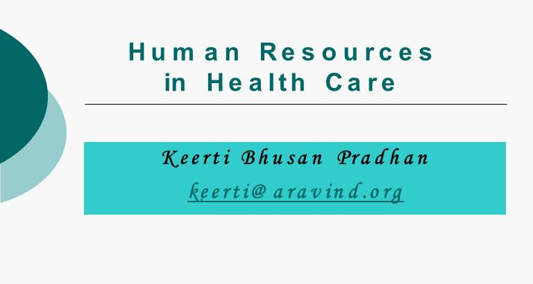 Human Resources in Health Care