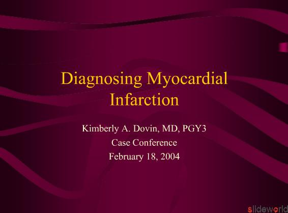Diagnosing Myocardial Infarction
