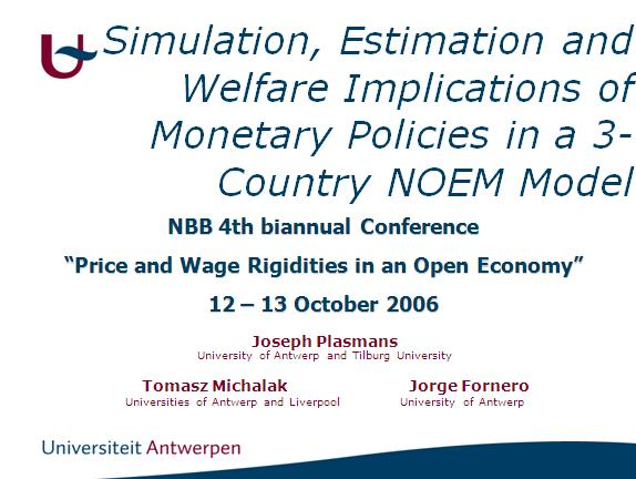 Simulation, Estimation and Welfare Implications of Monetary Policies