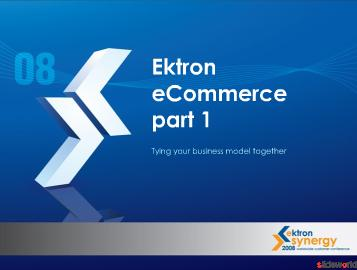 Ektron eCommerce part 1