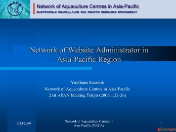 Network of Website Administrator in Asia-Pacific Region