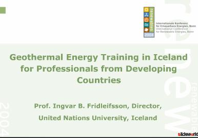 Evaluation of potential role of geothermal in energy plans of the country/r