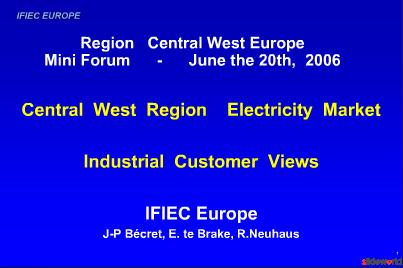 Region Central West Europe Mini Forum - June the 20th   