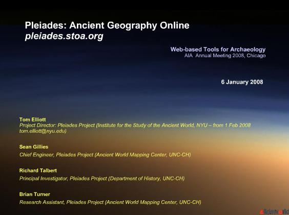 Pleiades Ancient Geography Online pleiades.stoa.org