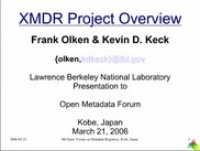 XMDR Project Overview