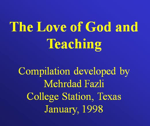 Consecration, love, teaching