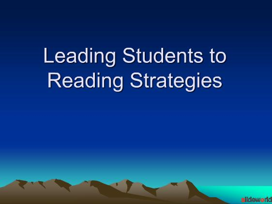Leading Students to Reading Strategies