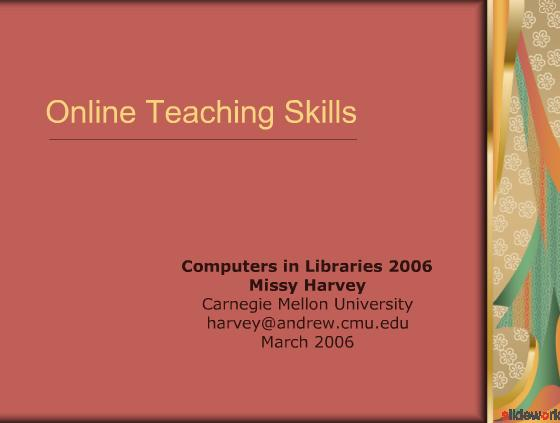 Online Teaching Skills