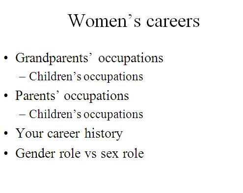 Women's careers