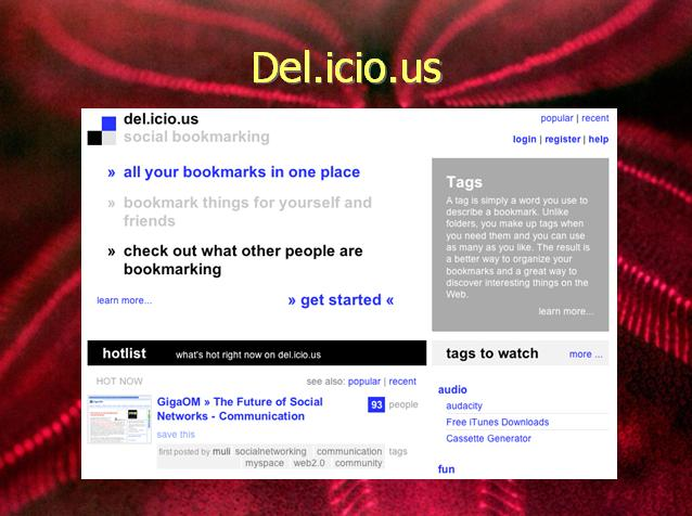 Social Bookmarking and Del.icio.us A Personal and