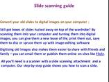 Slide scanning guide