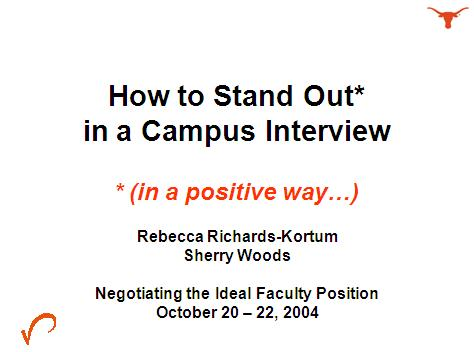 How to Stand Out in a Campus Interview   in a positive way   